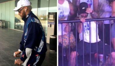 Com grave lesão, Neymar cai na folia do Carnaval e é detonado pela imprensa internacional