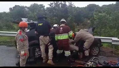 Fatimassulenses se envolvem em acidente em Nova Alvorada do Sul que deixou 5 feridos