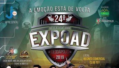 Grandes shows, confira a programação da 24ª Expoad que começa nesta quinta-feira em Deodápolis