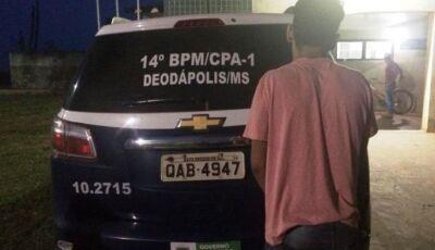 Homem tem casa arrombada ao sair para Expoad, PM prende e recupera produtos em Deodápolis
