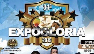 Confira os shows da 31ª Expoglória dos 56 anos de Glória de Dourados
