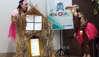 UNIGRAN: Dia do Livro é comemorado com apresentações teatrais encenadas por acadêmicos de Pedagogia
