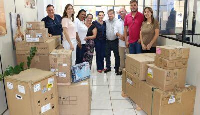 Eraldo entregou novos equipamentos odontológicos para a Saúde de Jateí