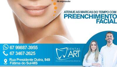 'Preenchimento Facial' é uma das especialidade da Dental Art em Fátima do sul