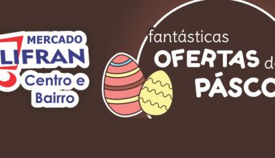 Mercado Julifran com diversas opções de ovos, cestas e chocolates para a Páscoa em Fátima do Sul