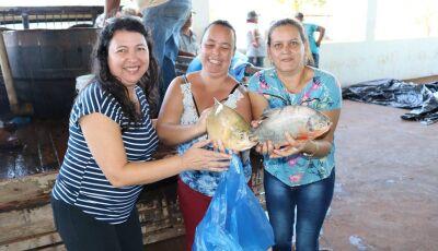Mantendo tradição, peixes são entregues as famílias dos programas sociais do município de Jateí