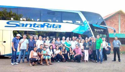 Romeiros de Fátima do Sul seguem viagem rumo à cidade de Aparecida do Norte
