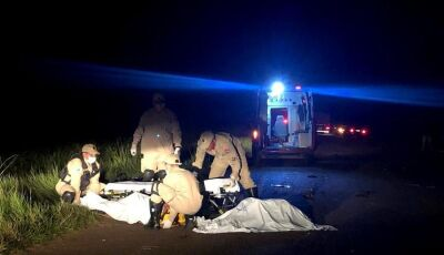 Uma pessoa morre após táxi capotar na MS-473, próximo a Taquarussu