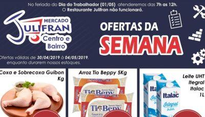 Ofertas 'Semana do Trabalhador' começa nesta quarta até domingo no Mercado Julifran em Fátima do Sul