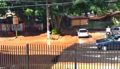 VÍDEO: Alagamento em poucos minutos assustam moradores de Campo Grande