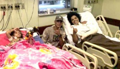 Mãe e filho se reencontram em hospital após desabamento de prédios