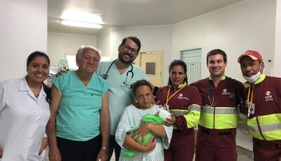 Bebê nasce na BR-163/MS à caminho de hospital em Nova Alvorada