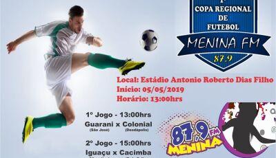 Confira os jogos deste domingo da 2ª rodada da 1° Copa Regional de Futebol Menina FM em Vicentina