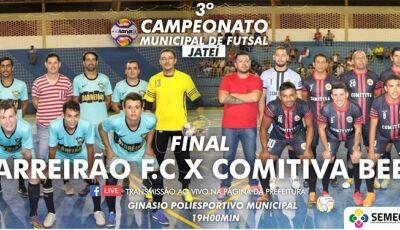 Neste sábado acontece a grande Final do 3º Campeonato Municipal de Futsal em Jateí