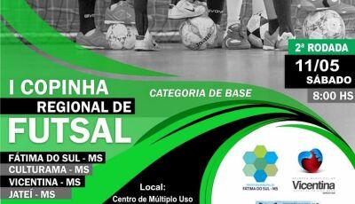 Vicentina recebe neste sábado a 2ª rodada da 1ª Copinha Regional de Futsal, Confira os jogos