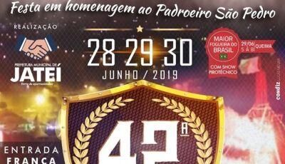 Confira a programação dos Shows da Festa da Fogueira de Jateí