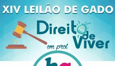 JATEÍ: Vem aí o 14º Leilão de Gado - Direito de Viver em prol ao Hospital de Amor de Barretos