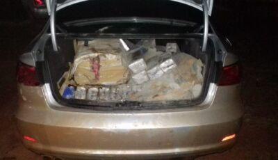 PM recupera carro recheado de maconha na rotatória de acesso ao distrito de Culturama