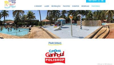 Campo Belo Resort fecha parceria com a Polishop e a cada R$ 600 ganhe 1 diária com 3 acompanhantes