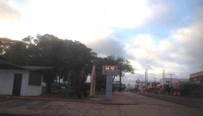 Temperatura cai em Fátima do Sul, neste sábado, 25, deve marcar 8º C.