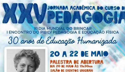 XXV Jornada Acadêmica de Pedagogia da UNIGRAN inicia nesta segunda-feira em Dourados