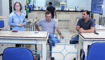Educação faz reivindicações ao Deputado Vander Loubet em Fátima do Sul