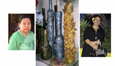 Artesãs de Fátima do Sul transformam recicláveis em obras de arte