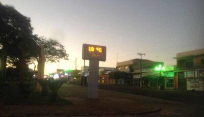Madrugada fria marca 13ºC e friagem deve continuar em Fátima do Sul