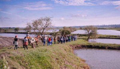 Acadêmicos de Medicina Veterinária da UNIGRAN fazem visita técnica em piscicultura de Mundo Novo