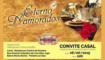 Eterno Namorados será o grande evento neste sábado no Mandacarú Eventos de Fátima do Sul