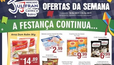 Quarta Verde e ofertas da semana é no Mercado Julifran, CONFIRA em Fátima do Sul