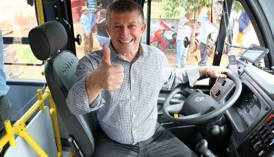 JATEÍ: Prefeito Eraldo entrega 04 Ônibus 0KM para trasporte escolar do distrito Gleba Nova Esperança