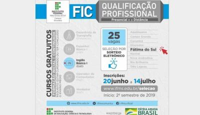IFMS e Prefeitura realizarão curso de inglês básico em Fátima do Sul