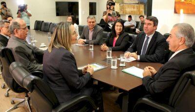 Reinaldo Azambuja recebe ministra do TST e defende ampliação do programa Jovem Aprendiz