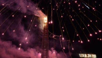 Queima da maior fogueira do Brasil será neste sábado com show de Edson e Hudson em Jateí