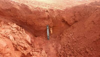 Mais uma, BOPE são chamados após bomba ser encontrada por funcionários durante escavação em Jateí