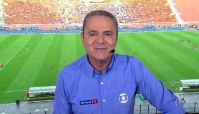 Luís Roberto é substituído às pressas em transmissão do jogo Athletico x Flamengo