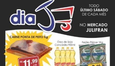 Sábado 'J' do Mercado Julifran terá gás a R$ 54,90 e diversas outras ofertas em Fátima do Sul