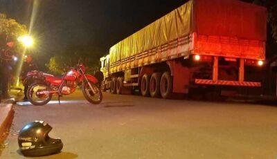 Acidente na madrugada desta quarta em Itaporã deixa motociclista em estado grave