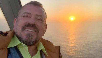 Padre Fatimassulense aprecia a beleza do Sol da meia noite na Islandia