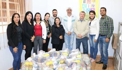 'Desafio das Máquinas' rendeu mais de 40 cestas que será entregues as famílias carentes em Jateí