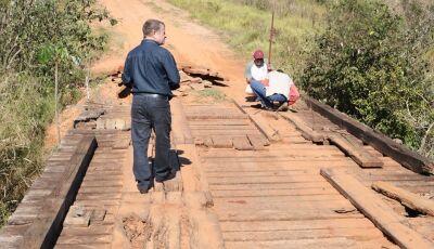 JATEÍ: Ponte sobre o Rio Verde, no travessão do Barreirinho que recebe uma reforma completa