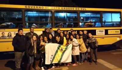 Vicentina já está em Três Lagoas para disputar futsal e basquetebol nos Jogos Escolares da Juventude