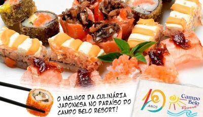 Campo Belo Resort terá noite com o melhor da Gastronomia Oriental e música ao vivo dia 03 de agosto