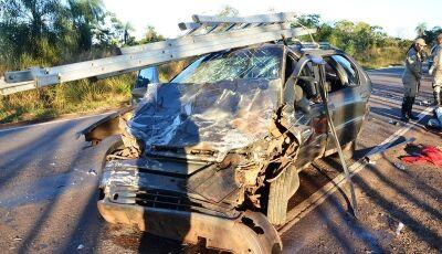 Identificada vítima fatal de acidente entre Ivinhema a Nova Andradina, acidente deixou 3 feridos