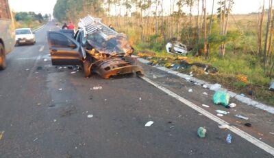 Acidente na MS - 276 deixa uma vitima fatal e três com ferimentos graves em Ivinhema