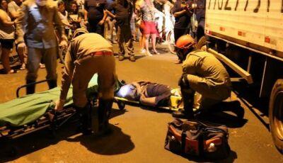 Motociclista morre atropelado no Residencial Solar do Vale em Ivinhema