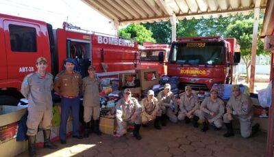 Corpo de Bombeiros arrecada mais de 4 mil peças de roupas em Campanha do Agasalho em Fátima do Sul