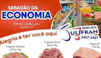 Confira as ofertas do SABADÃO DA ECONOMIA do Mercado Julifran em Fátima do Sul