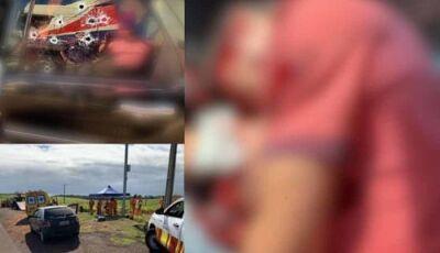 AGORA: pistoleiros atacam família em rodovia de MS e atiram em motorista, mulher e bebê